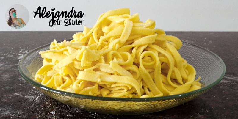 % Cómo hacer pasta sin gluten en 4 pasos | Receta de masa básica para fideos y ravioles para celíacos