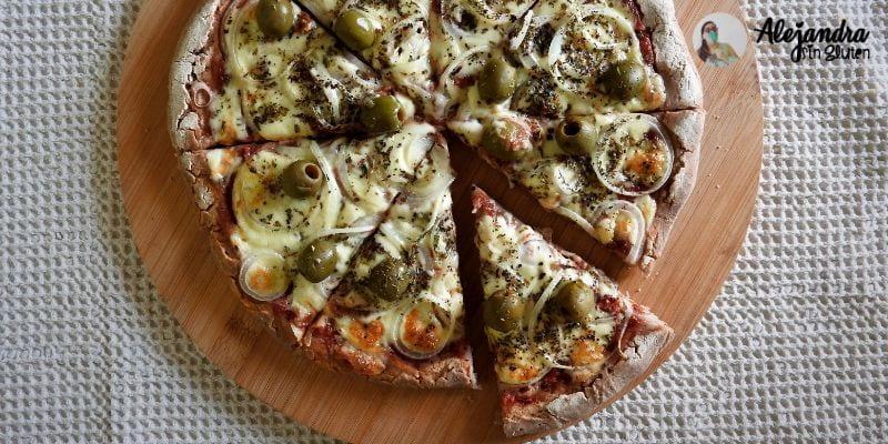 Pizza sin gluten con harina de trigo sarraceno