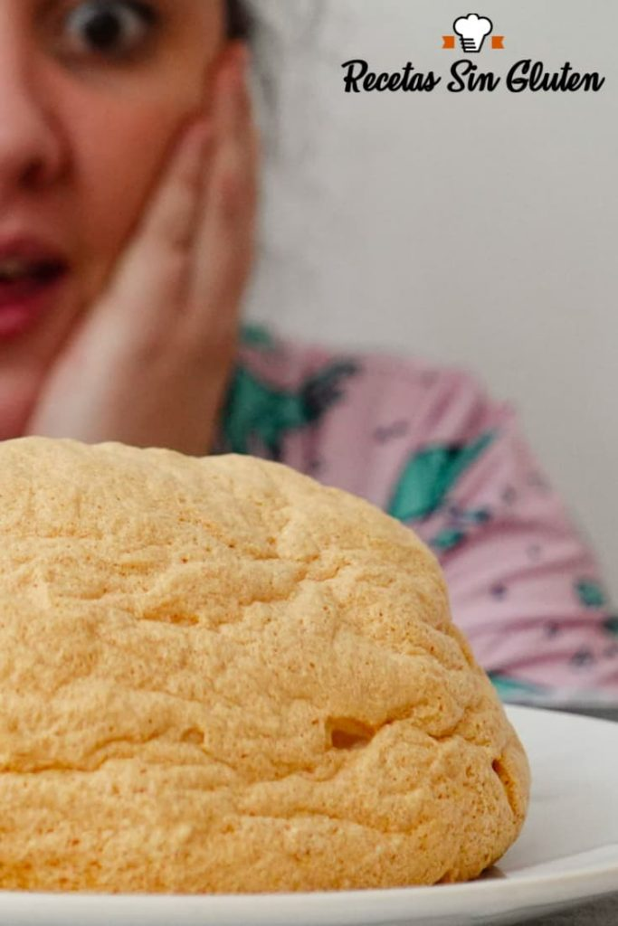 Pan nube sin queso crema